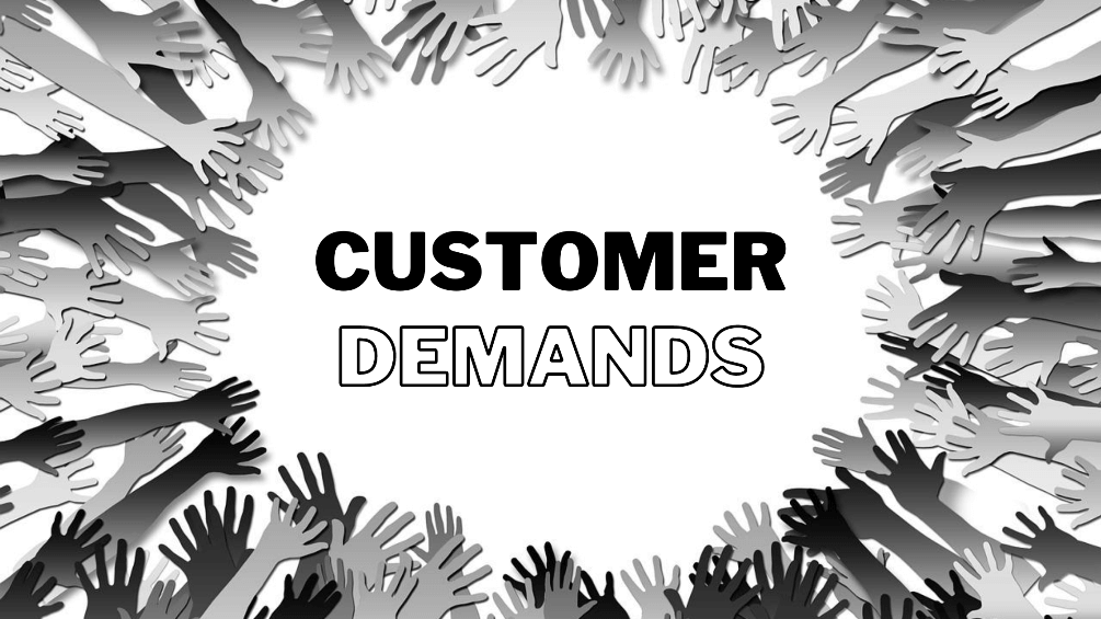 update customer demands in business plan