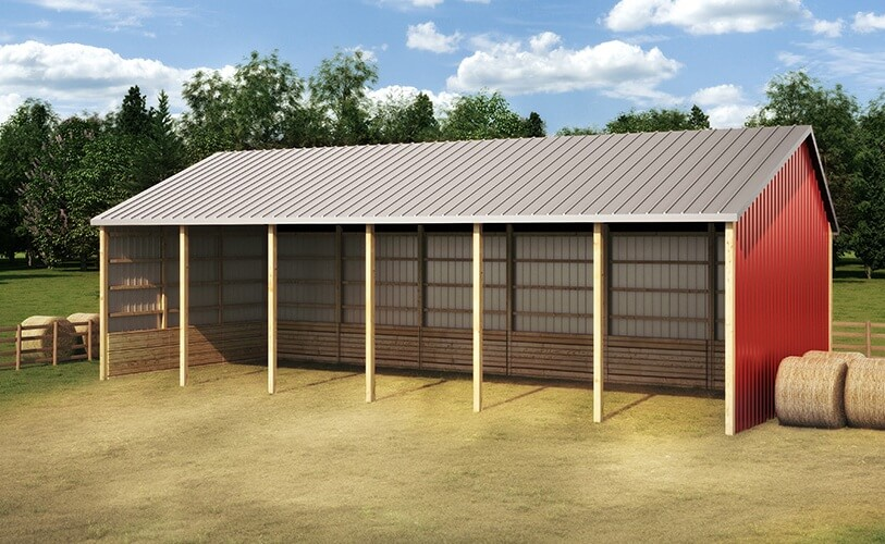 Cattle farm shelters