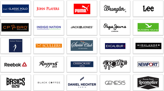 clothing business top brands