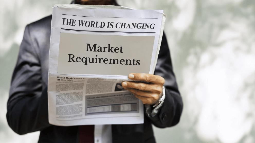 update market requirements in business plan