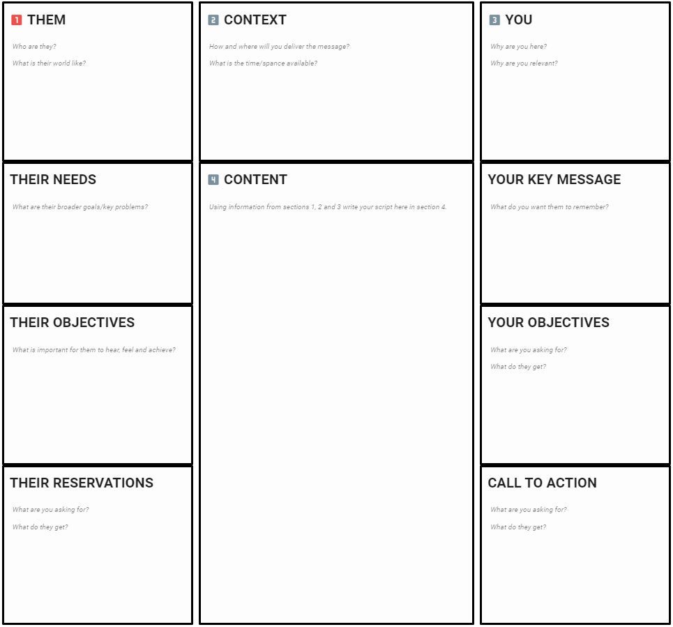The Pitch Planner Canvas