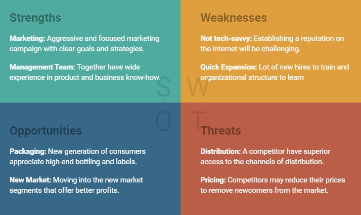 update SWOT Analysis in business plan