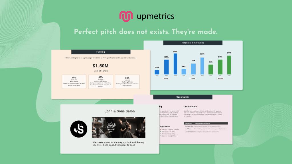 Upmetrics Business Pitch Deck