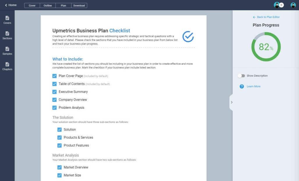 Business Plan Progress