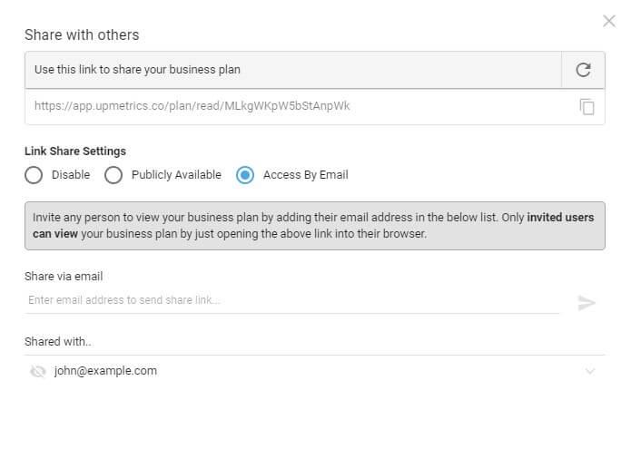 Share Business Plan Online